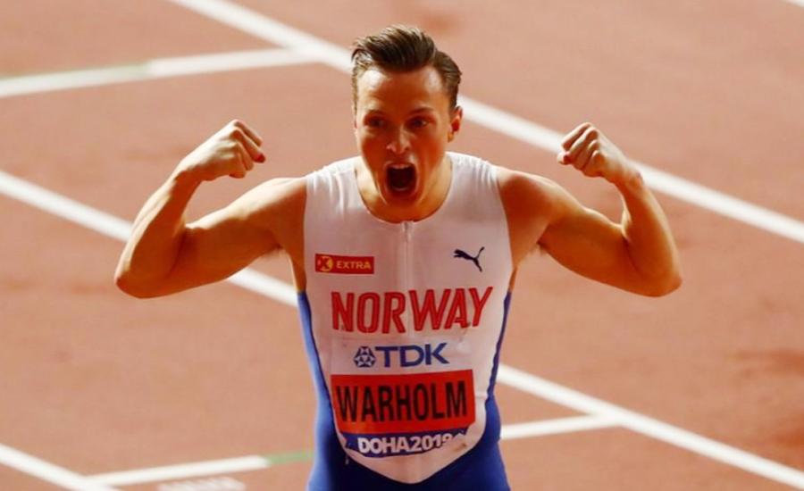ناروے نے 400 میٹر کی ہرڈل ریس میں سونے کا تمغہ جیت لیا