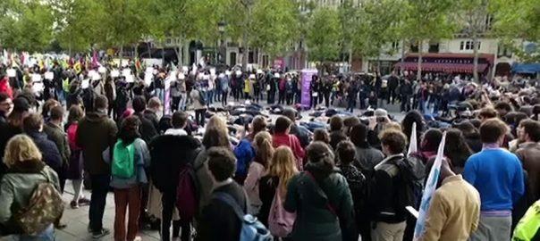 فرانس ، گھریلو ، تشدد،عورتوں ، قتل ، مظاہرہ