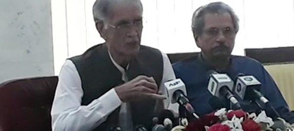 حکومتی مذاکراتی کمیٹی اپوزیشن سے مطالبات اسلام آباد  92 نیوز وزیر دفاع  پرویز خٹک  کشمیر کا مسئلہ 