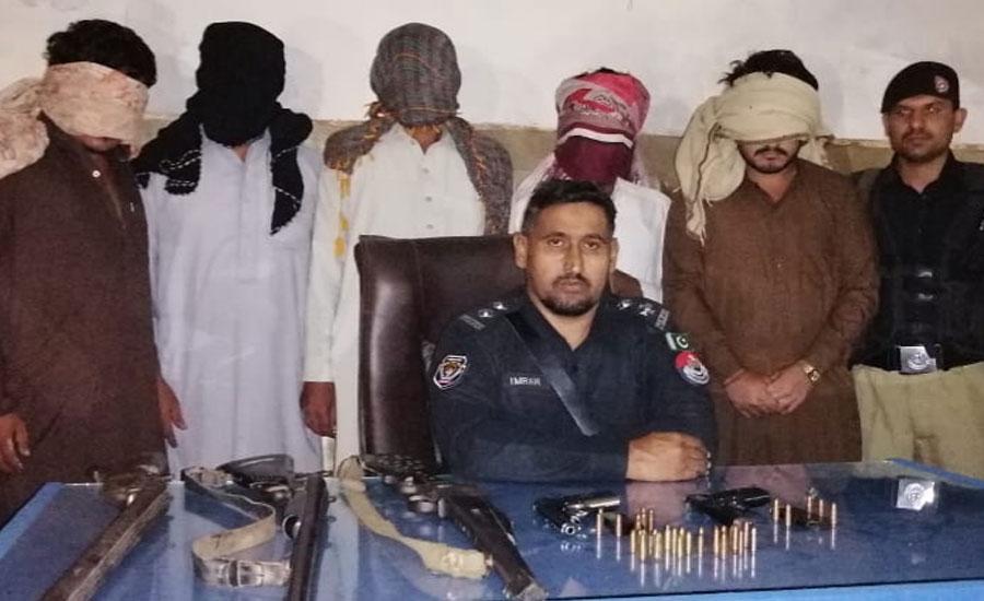 پشاور، پولیس کا سرچ آپریشن، 30 افراد گرفتار، اسلحہ برآمد