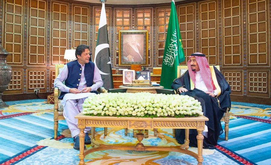 وزیر اعظم کی سعودی فرمانروا ،ولی عہد سے ملاقات ، معاملات گفتگو سے حل کرنے پر زور