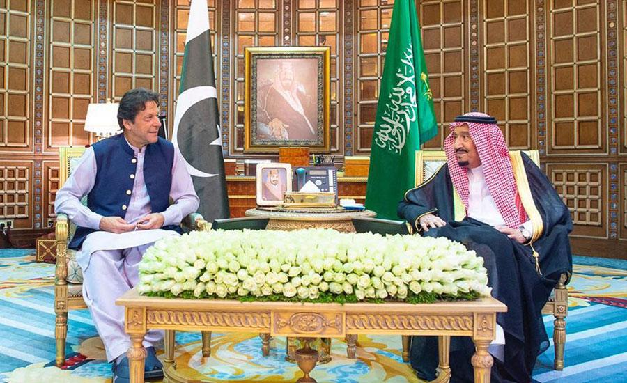 وزیراعظم کی شاہ سلمان اور ولی عہد سے ملاقاتیں، ایران سعودی عرب کشیدگی پر تبادلہ خیال