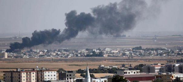 شام، ترک فوج، کرد قافلے، بمباری، 14 افراد ہلاک، دمشق، 92 نیوز
