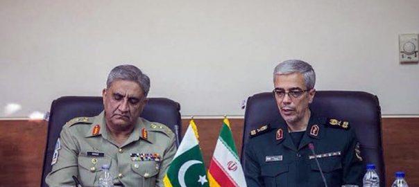 آرمی چیف، تہران پہنچ گئے، ایرانی مسلح افواج کے چیف، ملاقات ، ڈی جی آئی ایس پی آر، راولپنڈی، 92 نیوز
