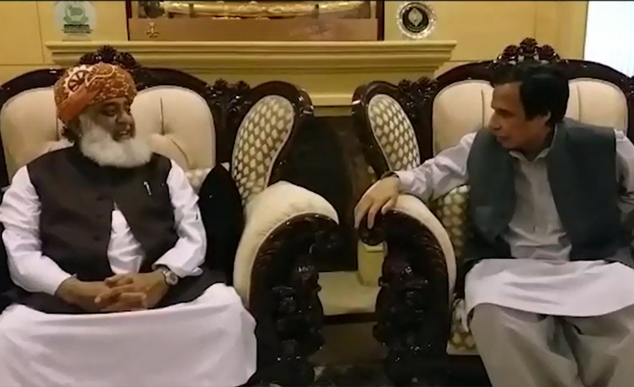 چودھری پرویز الہٰی کی فضل الرحمٰن سے ملاقات، آزادی مارچ کے ڈیڈ لاک ختم کرنے پر گفتگو