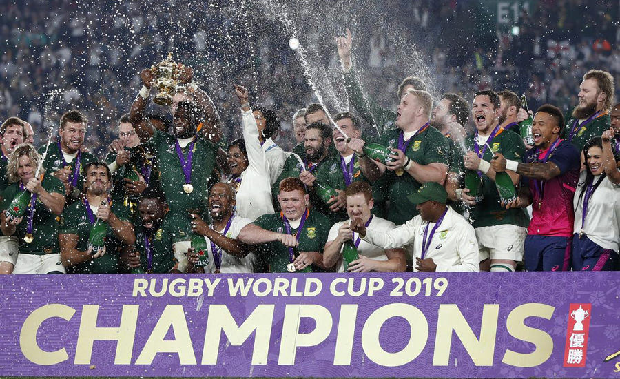 جنوبی افریقہ تیسری بار رگبی کا عالمی چیمپئن بن گیا