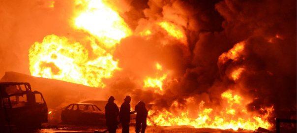 جاں بحق, 92 نیوز, آتشزدگی, پائپ لائن, تیل چوری, قاہرہ , مصر