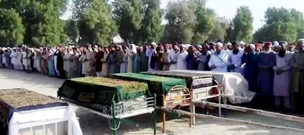سانحہ تیز گام  جاں بحق  نماز جنازہ ادا میر پور خاص  92 نیوز