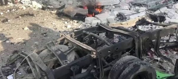 شام ، سرحدی ، شہر ، تل ابیاد ، کار ، بم دھماکا، 13افراد ، ہلاک