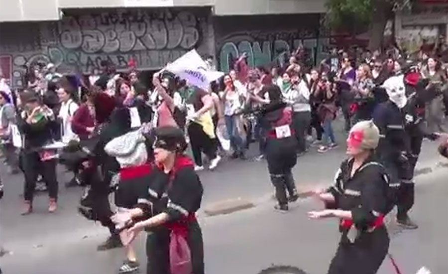 خواتین کے خلاف تشدد کے خاتمے کے عالمی دن پر دنیا بھر میں خواتین کا مظاہرہ