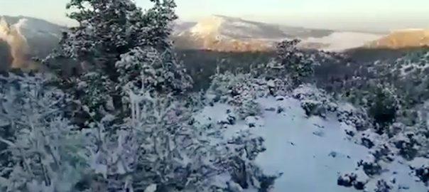 زیارت، موسم سرما، پہلی برفباری، سردی بڑھ گئی، 92 نیوز