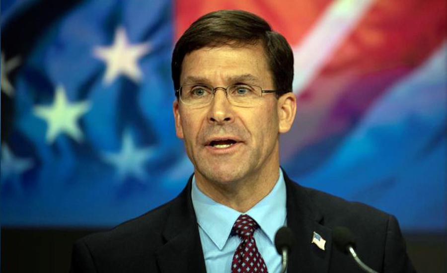 امریکی فوج کی کمی کا انحصار طالبان امن معاہدے پر نہیں ،مارک ایسپر