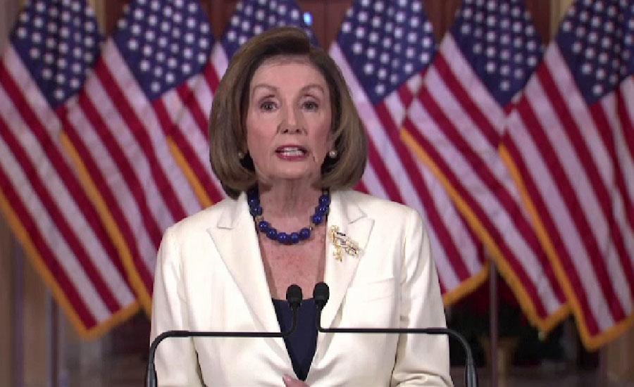 نینسی پیلوسی نے ایوان کو صدر ڈونلڈ ٹرمپ کے مواخذے کا مسودہ تیار کرنے کا کہہ دیا