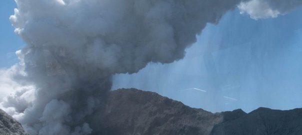 وائٹ آئی لینڈ  آتش فشاں  لاوے کا اخراج  92 نیوز نیوزی لینڈ 
