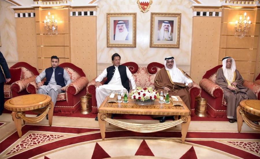 وزیر اعظم ایک روزہ دورے پر بحرین پہنچ گئے ، شہزادہ محمد سلمان سے ملاقات