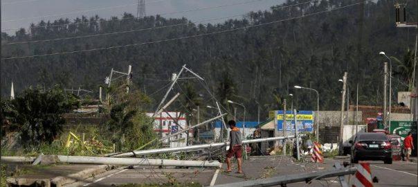 فلپائن سمندی طوفان فلپائن  92 نیوز چار افراد ہلاک  امریکا میں شدید سردی  آسٹریلوی ریاست  نیوساؤتھ ویلز