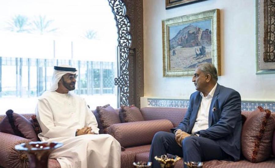 آرمی چیف کا دورہ متحدہ عرب امارات ، شیخ محمد بن زید النہیان سے ملاقات