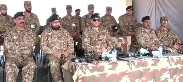 آرمی چیف، کراچی کور فارمیشنز، سندھ رینجرز، دورہ، مشقیں دیکھیں، راولپنڈی، 92 نیوز