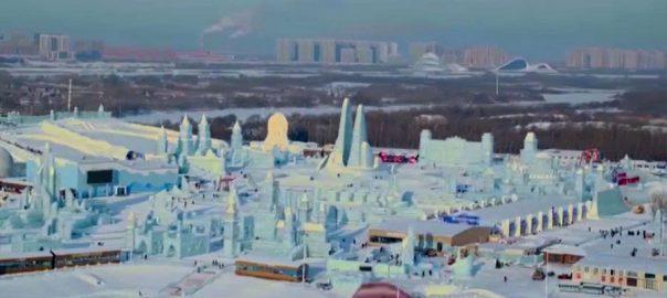 چین، سیاحوں، برف، ونڈر لینڈ، تیار، بیجنگ، 92 نیوز