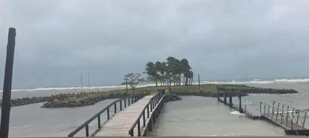 بحراوقیانوس ، طوفان ، جزیرہ نما فجی ، ٹکرا