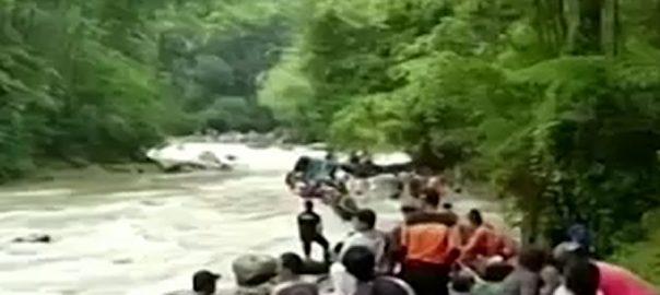 انڈونیشیا  مسافر بس  26افراد ہلاک  جکارتہ  92 نیوز