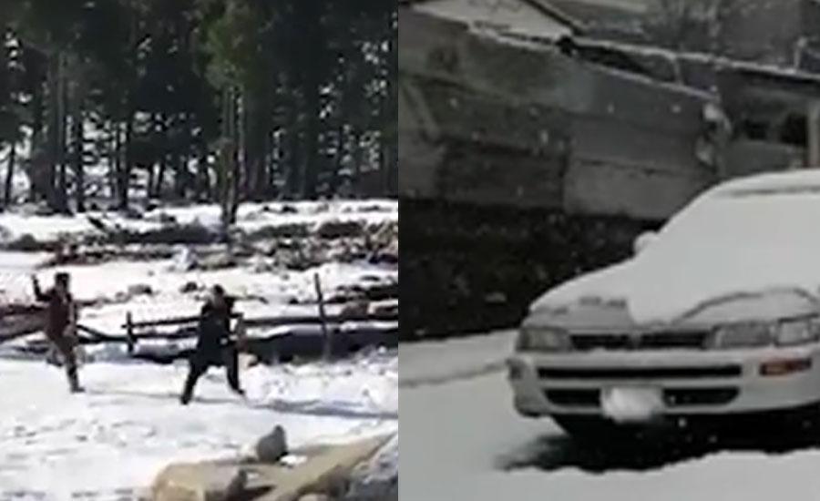 کمراٹ میں برف باری کا سلسلہ تھما تو سیاحوں نے وادی کا رخ کر لیا