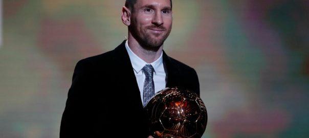 لیونل میسی  بیلون ڈی آر ایوارڈ  پیرس  92 نیوز ارجنٹائن  اسٹار فٹبالر 