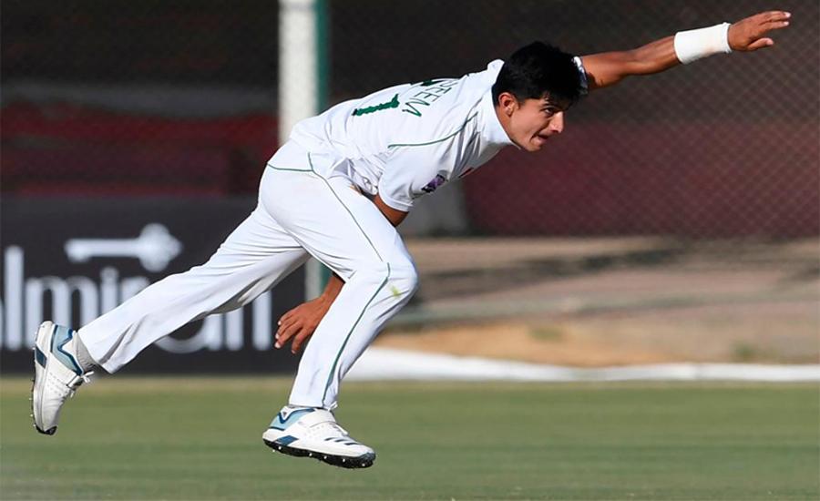 نسیم شاہ ٹیسٹ میں 5 وکٹیں حاصل کرنیوالے دوسرے کم عمر ترین باؤلر بن گئے