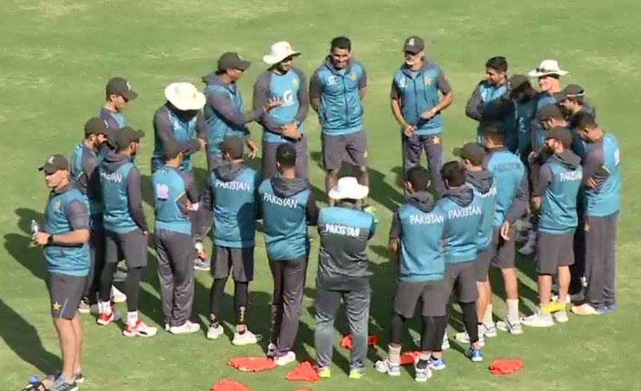 پاک سری لنکا ٹیموں کی جم کر پریکٹس، سکیورٹی کے سخت انتظامات