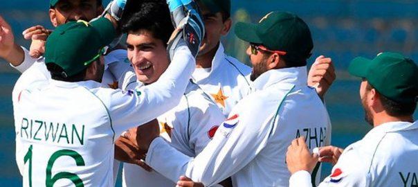 پاکستان ٹیسٹ رینکنگ  ساتویں پوزیشن دوبئی  92 نیوز آئی سی سی ٹیسٹ رینکنگ  اسٹار بلے باز  بابراعظم 