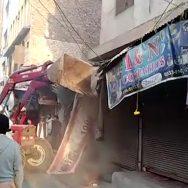 پشاور نوتھیہ بازار تجاوزات کیخلاف گرینڈ آپریشن  بھاری مشینری  پشاور  92 نیوز