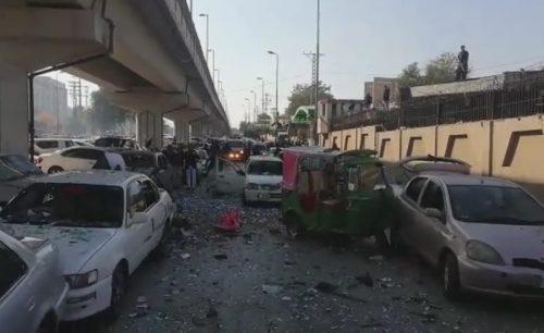 پشاور ، ہائیکورٹ ، دھماکا، گیارہ ، افراد ، زخمی