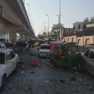 پشاور ہائیکورٹ  سلنڈر دھماکہ  تین پولیس اہلکار زخمی  پشاور  92 نیوز