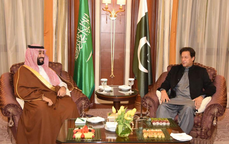 وزیراعظم کی سعودی ولی عہد سے اہم ملاقات، اسٹریٹجک تعلقات پر زور دیا