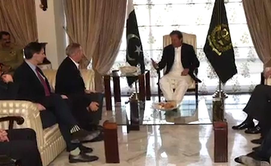 وزیر اعظم سے امریکی سینیٹر لنڈسےگراہم کی ملاقات، باہمی امور پر گفتگو