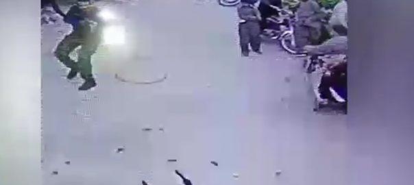 ہربنس پورہ  پولیس اور ڈاکوؤں کے درمیان فائرنگ  سی سی ٹی وی  لاہور  92 نیوز