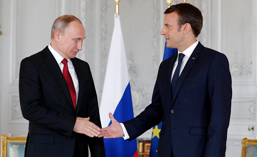 روس اور فرانسیسی صدرکا ٹیلیفونک رابطہ ، شام اور لیبیا کی صورتحال پر تبادلہ خیال