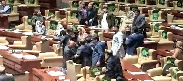 سندھ اسمبلی اجلاس، شرجیل میمن، ریاض حیدر، تلخ جملوں کا تبادلہ، کراچی، 92 نیوز