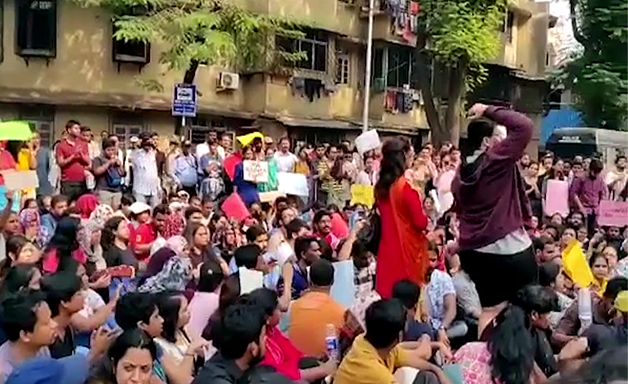 بھارت میں ہونیوالے اقلیتیوں کے احتجاج میں طلبہ بھی شامل