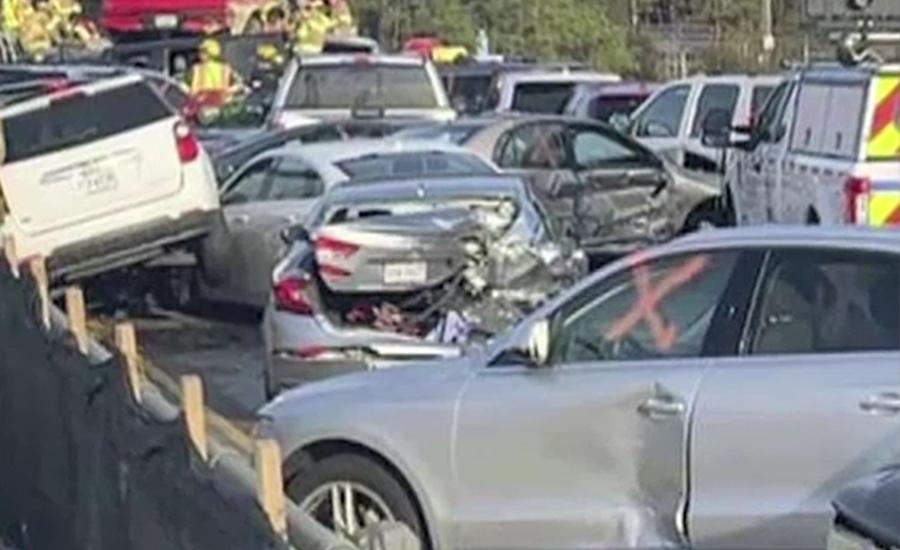 ورجینیا میں ہائی وے پر 63 گاڑیاں آپس میں ٹکرا گئیں 