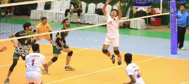 ساؤتھ ایشین گیمز  پاکستان والی بال بھارت کھٹمنڈو  92 نیوز