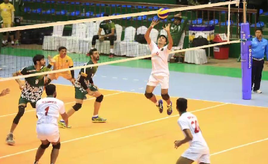 ساؤتھ ایشین گیمز ، پاکستان کل والی بال کے فائنل میں بھارت سے مقابلہ کریگا