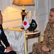 آرمی چیف جنرل قمر جاوید، جاپان، سینئر نائب وزیر خارجہ، ملاقات، راولپنڈی، 92 نیوز