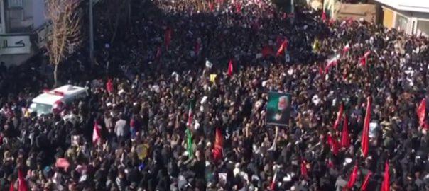 جنرل قاسم سلیمانی  بھگدڑ  35 افراد ہلاک  تہران  92نیوز ) 