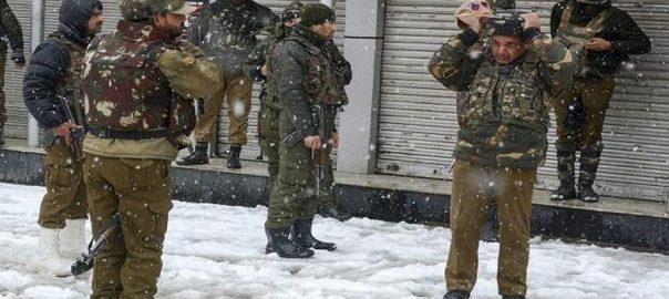 بھارتی فورسز سرینگر  92 نیوز مقبوضہ کشمیر