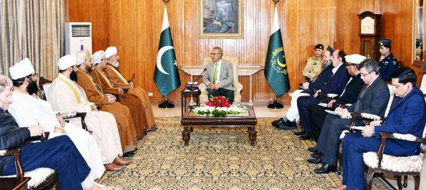 عمان ، وزیر مذہبی امور ، صدر مملکت ، عارف علوی ، ملاقات ، دو طرفہ امور ، تبادلہ خیال