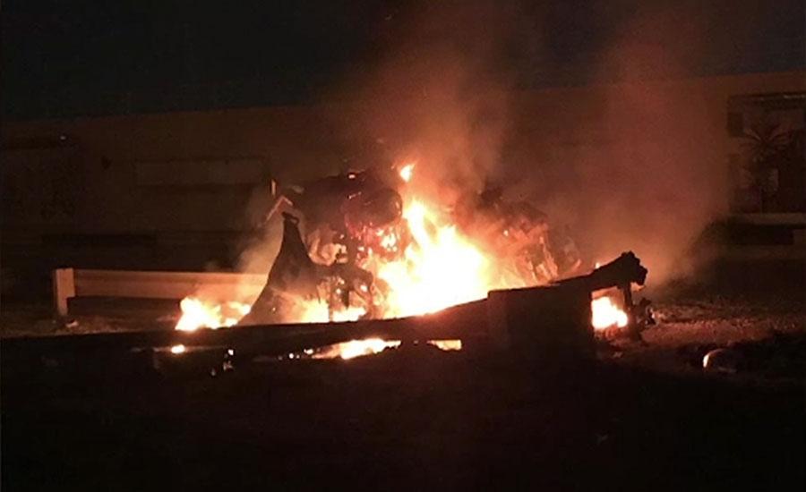 امریکا کے بغداد ایئرپورٹ پر ایران سے منسلک دو اہداف پر فضائی حملے، آٹھ افراد ہلاک