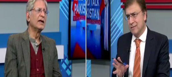 عمران خان  اعتزاز احسن  لاہور  92 نیوز پاکستان پیپلزپارٹی  سینئر رہنما  بیرسٹر اعتزاز احسن ہارڈ ٹاک