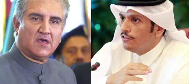 شاہ محمود قریشی ، محمد بن عبد الرحمن الثانی ، ٹیلیفونک رابطہ ، خطے ، امن و استحکام ، کاوشیں ، اتفاق