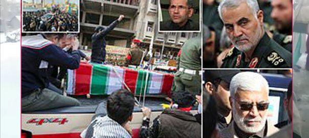 ایرانی جنرل قاسم سلیمانی، ابومہدی المہندس، 6 ہلاک، نماز جنازہ ادا، بغداد، 92 نیوز